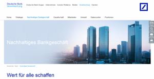 Deutsche Bank, Unternehmenswerte