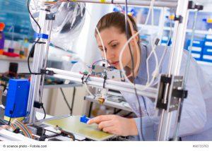 Technologiescouts, 3-D-Drucker, Studentin, Wissenschaftlerin, Wissenschaft, Forschung