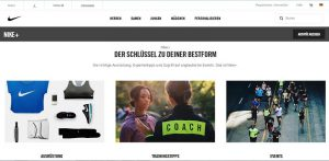 Nike+ smarte produkte, smart services, screenshot