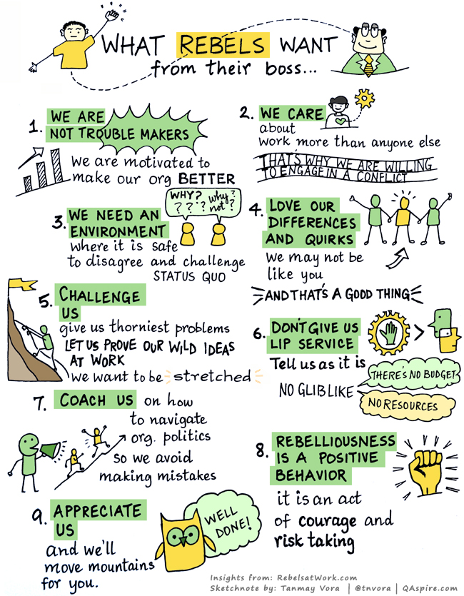 tanmay vora, infografik, what rebels want from their boss, rebellen, rebell, organisationsrebellen