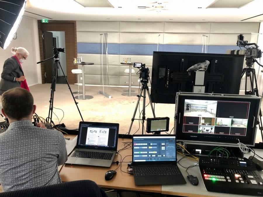 Technisches Setup in der Vorbereitung zur Zukunftswerkstatt der dwpbank AG 2021